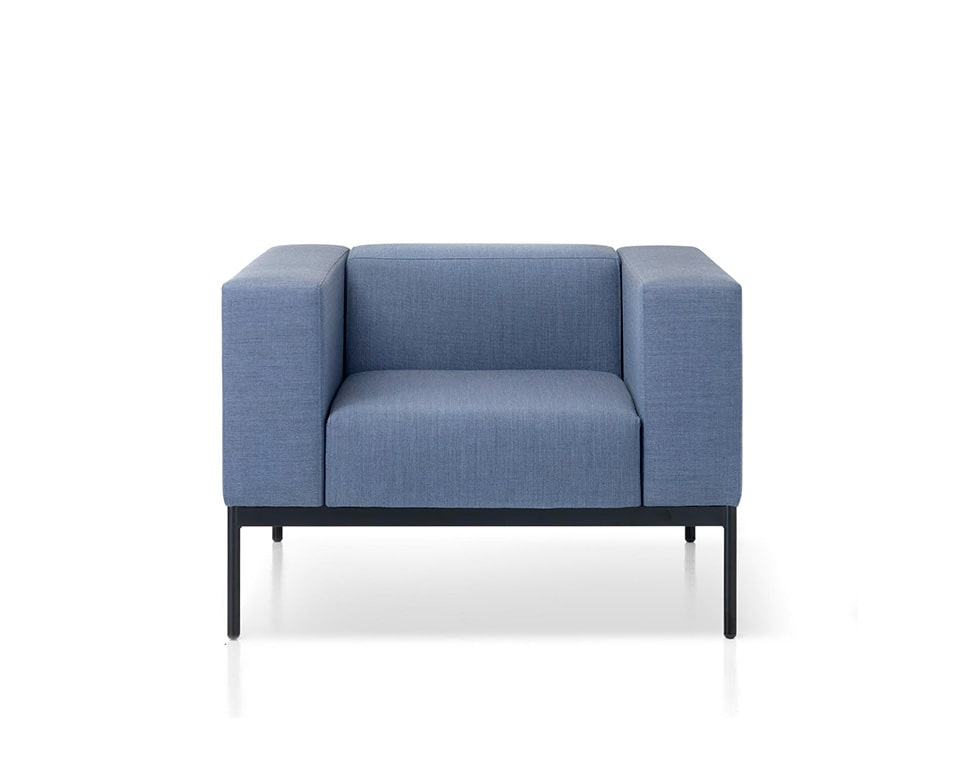 BB3-sofas-Bb3 High quality stylish Italian armchair in blue fabric