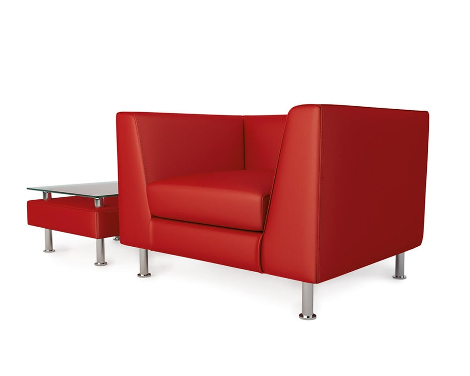 cube-sofas-cube-sofas-cube-sofas-Italian office sofa armchairs in red leather