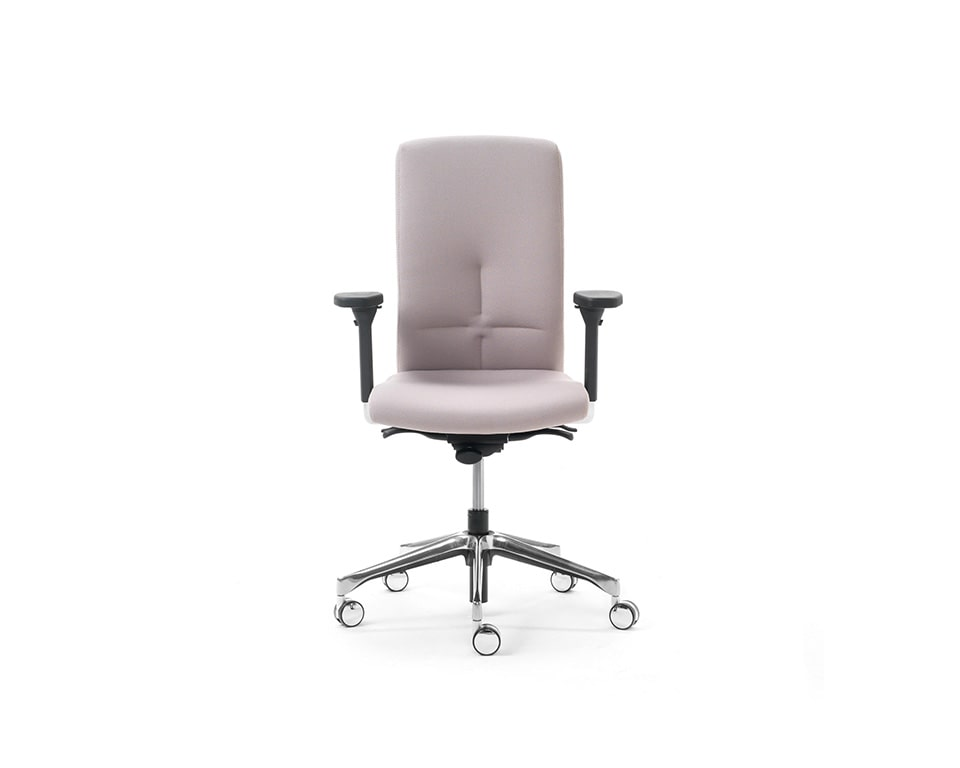 eclipse-chairs-executive fully adjustable task chair in white fabric