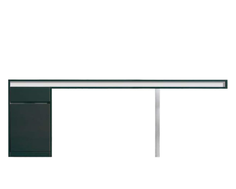 Long Friday large 2200 x 800 home office desk with wire management and storage