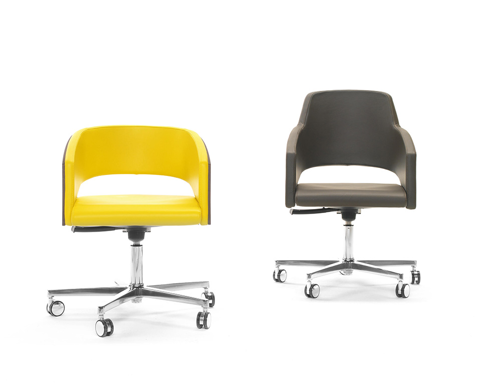 Major range of compact higher back range of home office chair in leather or fabric gas lift and tilt mechanism