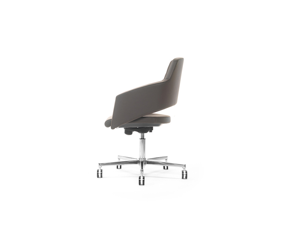 Major compact higher back home office chair in leather or fabric gas lift and tilt mechanism