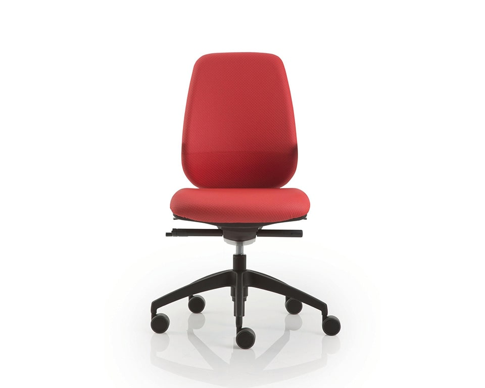 pratica-chairs-pratica-chairs-7- Italian task office chairs in red fabric without arms