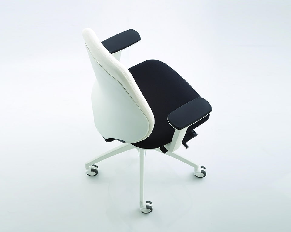 pratica-chairs-pratica-chairs-7- Italian task office chairs in white frame and black fabric