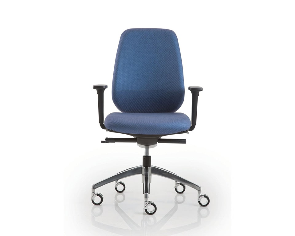 pratica-chairs-7- Italian task office chairs in blue fabric