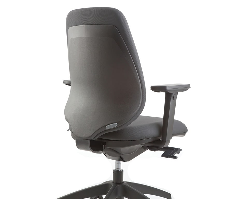pratica-chairs-7- Italian task office chairs in fabric and black frame