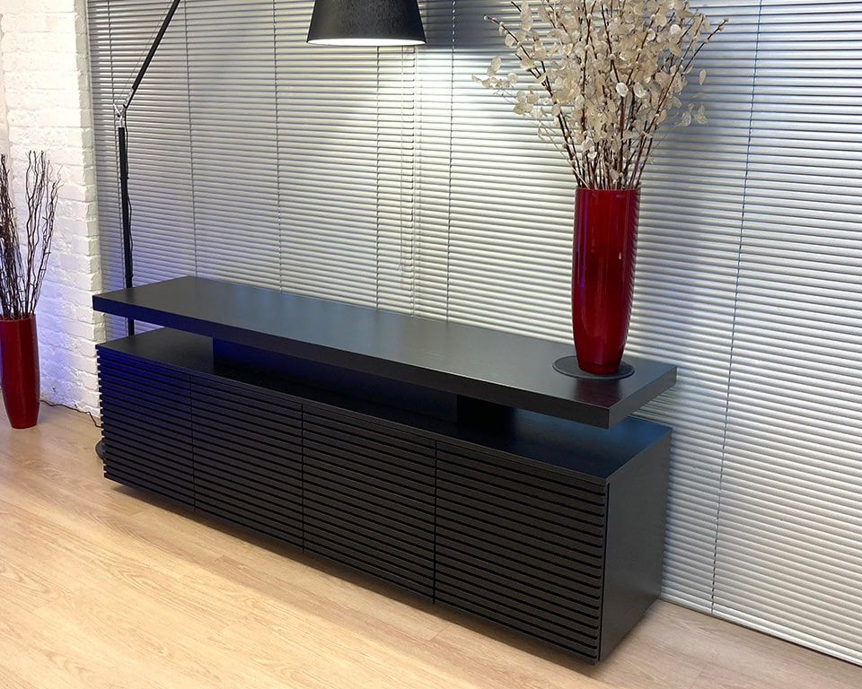 Taiko Luxury Executive sideboard with matching black ash wood finish to Taiko executive desks