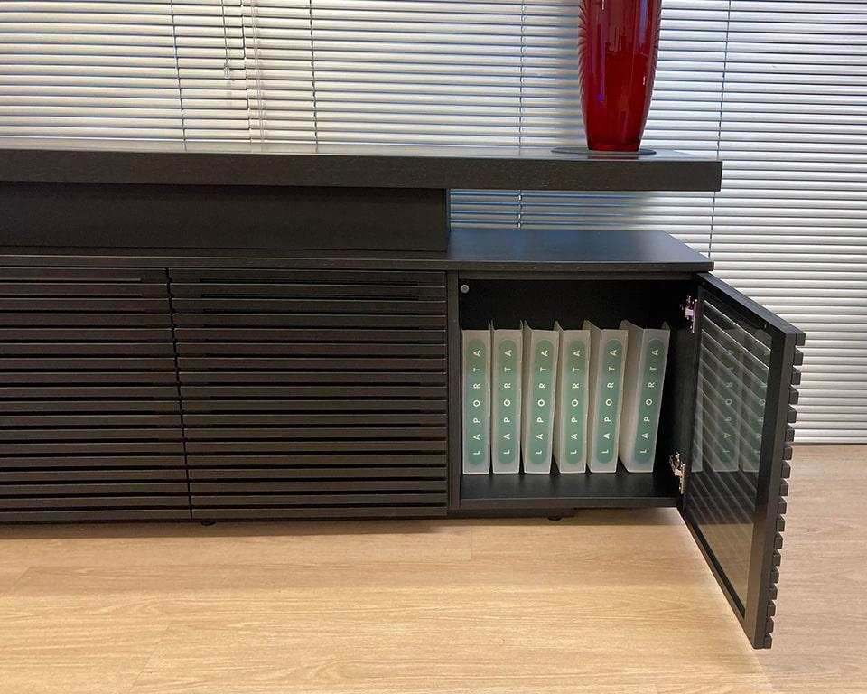 Taiko Luxury Executive sideboard with matching wood finish to Taiko executive desks