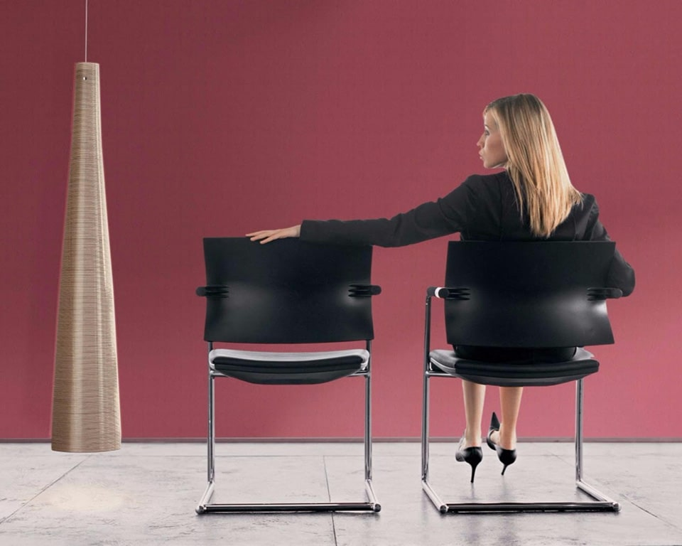 Aire JR black meeting room chairs with chrome cantilever frames