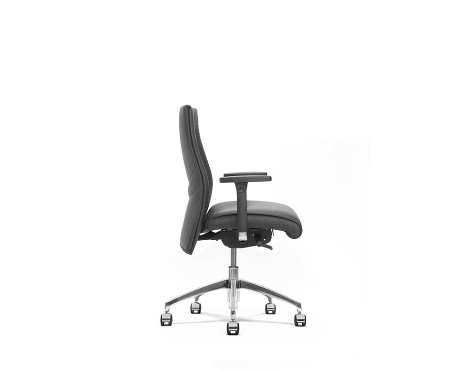 Beaute Medium back fully adjustable executive chairs without arms side view