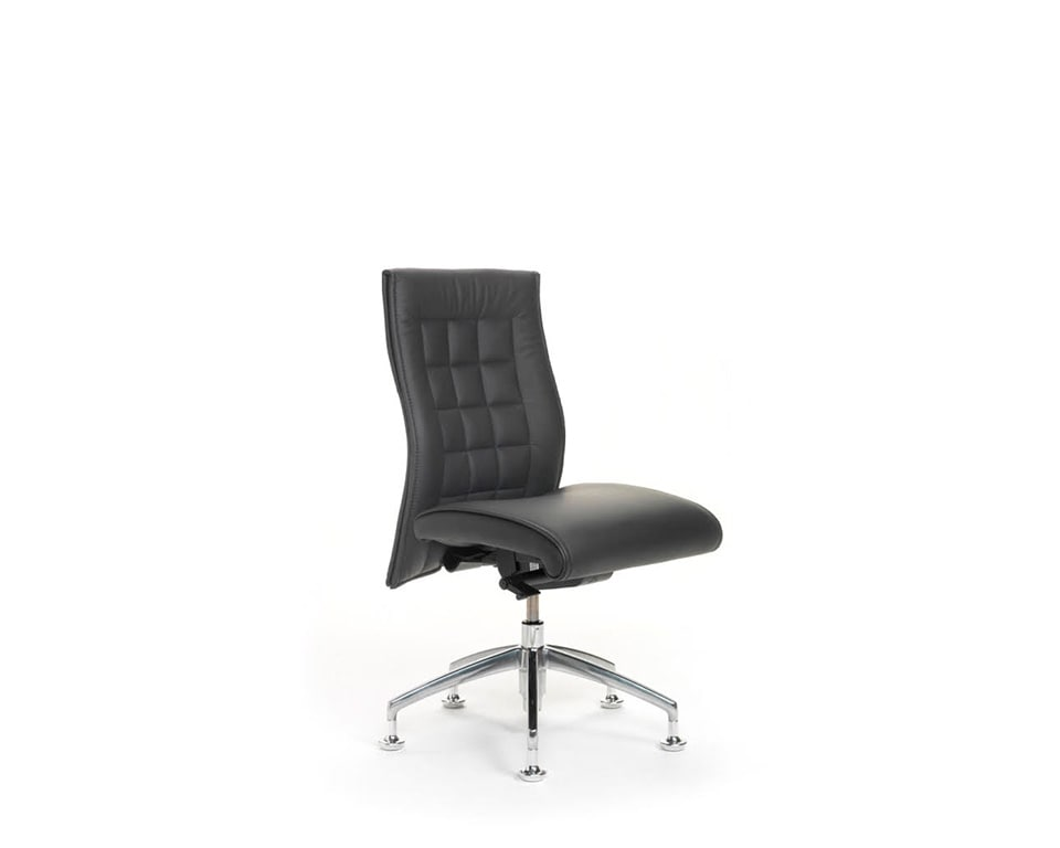 Beaute medium back design from the Laporta office chairs collection shown here without arms or wheels