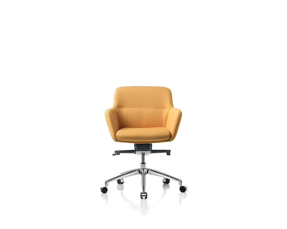 Darwin high quality Executive low back home office chairs in leather of fabric front view