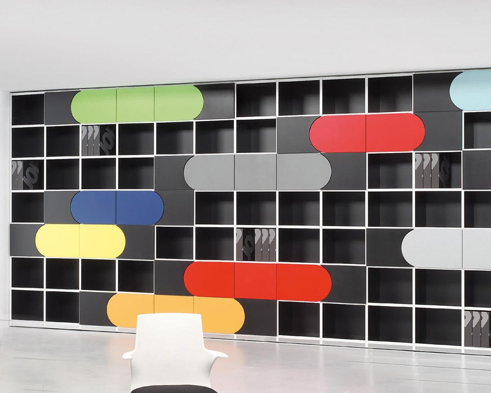 elasto-boxes stylish designer bookcases with concave and covex doors
