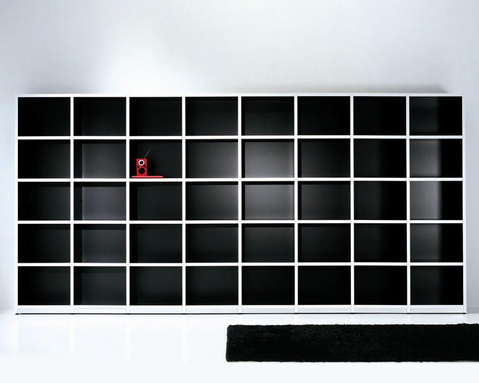 High quality Italian range of open bookcases