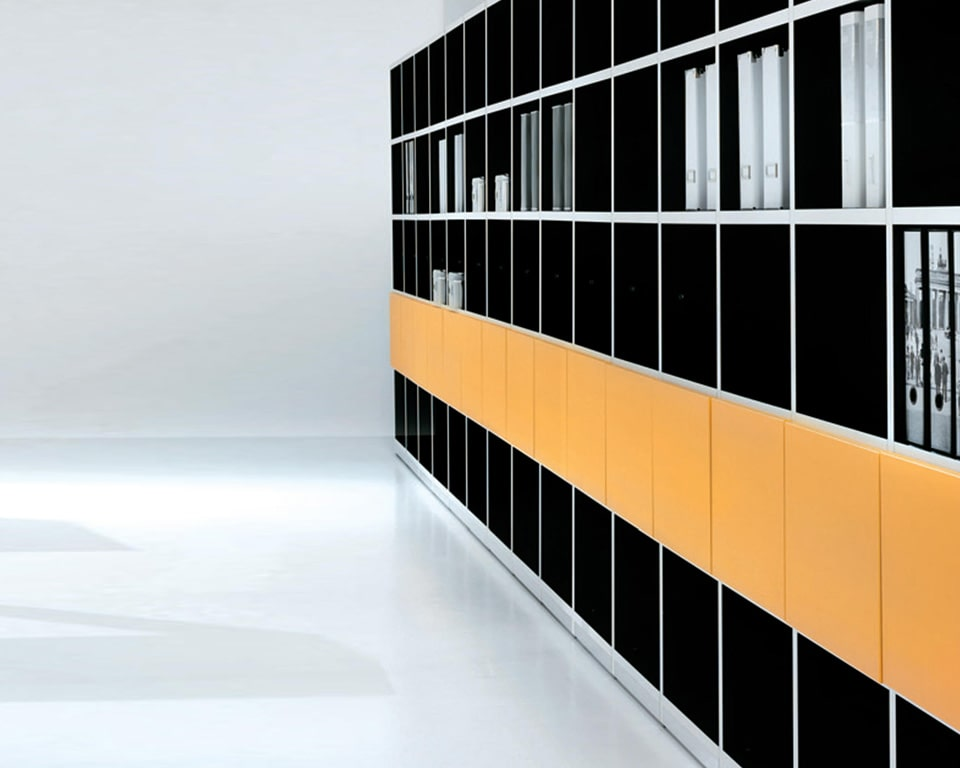 High quality Italian range of open bookcases or bookcases with doors