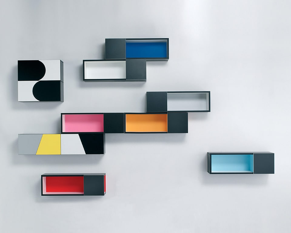 forme open designer wall mounted shelving units