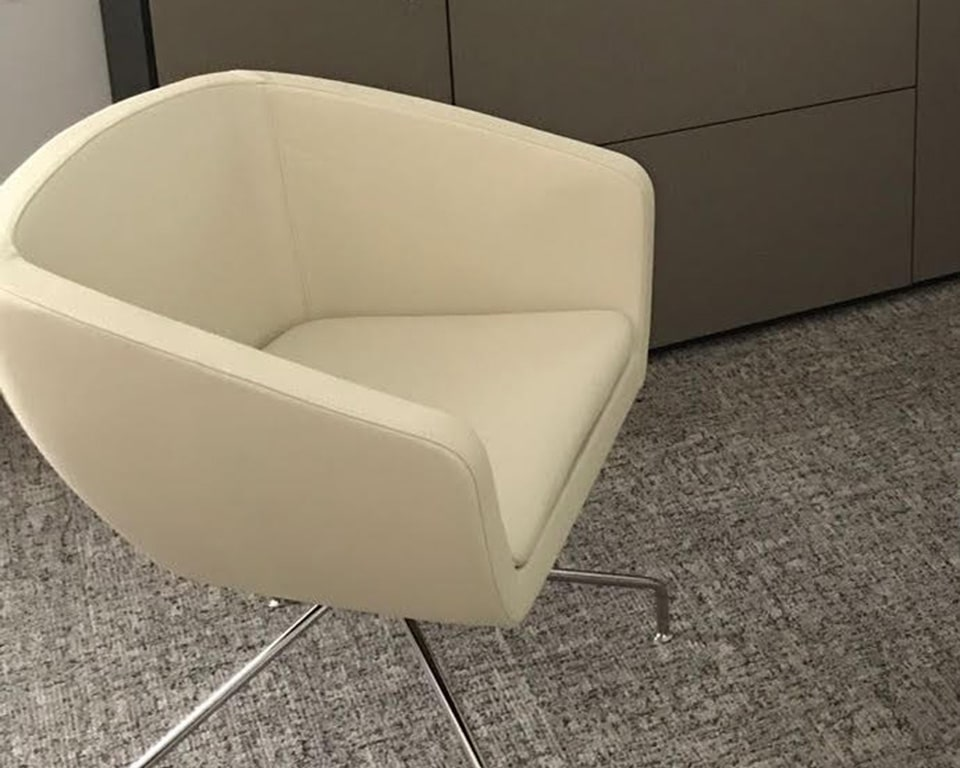 ginkgo-chairs- Italian designer armchairs in cream leather