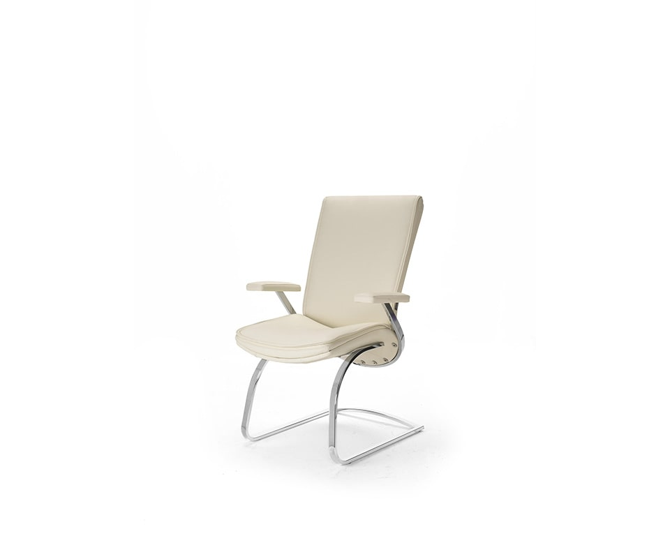 Idesia Matching visitors chairs and stylish boardroom chairs in cream leather
