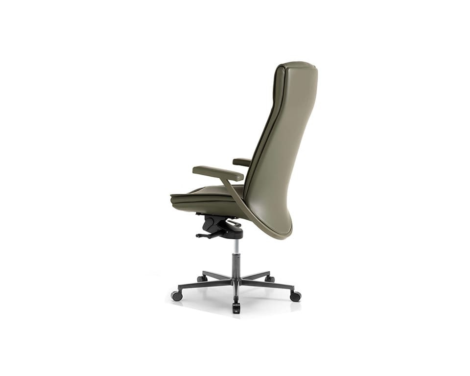 Idesia high back Leather executive office chairs and boardroom sage green leather