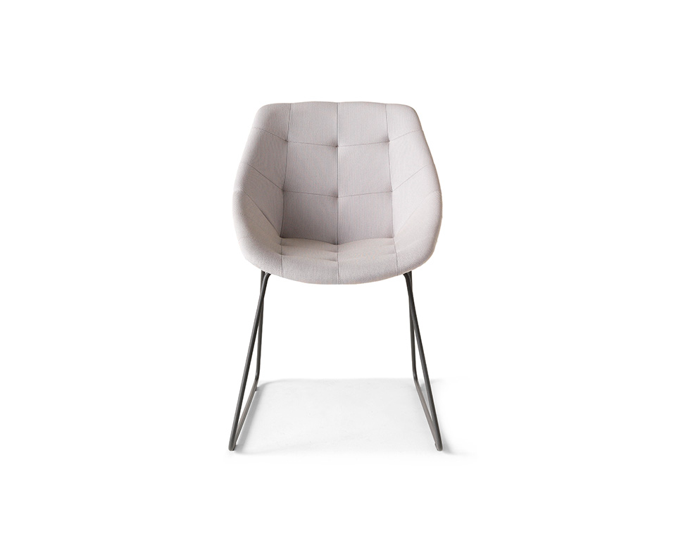 miss-lily-Skid frame occasional chairs without buttons upholstered in fabric