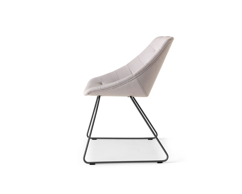miss-lily-Skid frame occasional chairs without buttons upholstered in fabric- side view