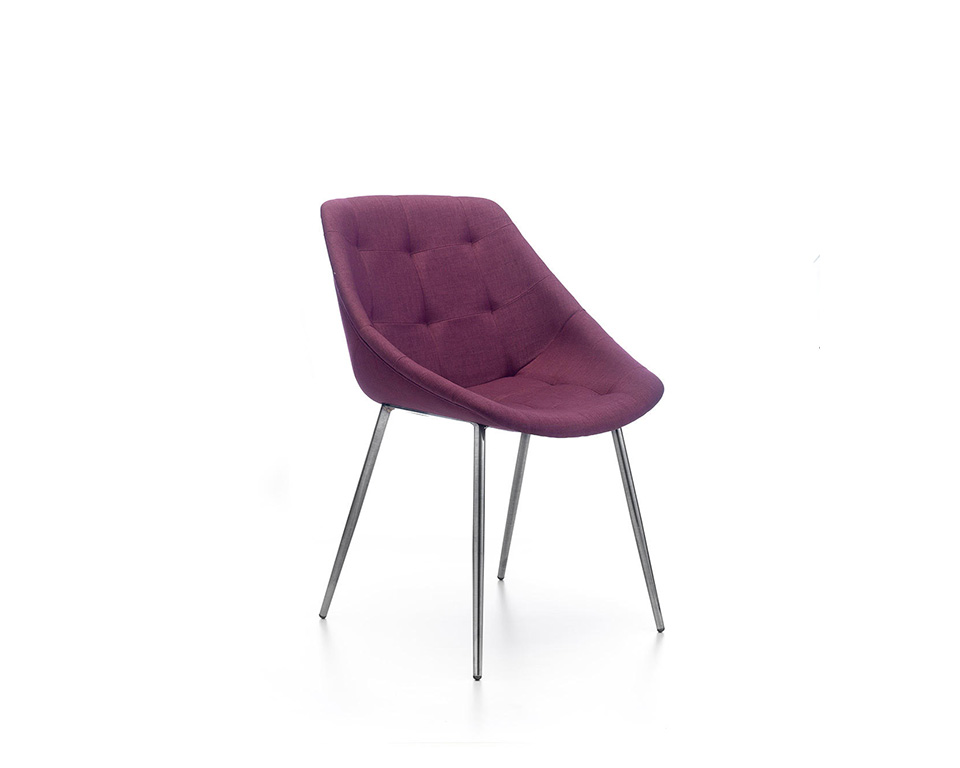miss-lily-4 leg frame occasional chairs without buttons upholstered in fabric