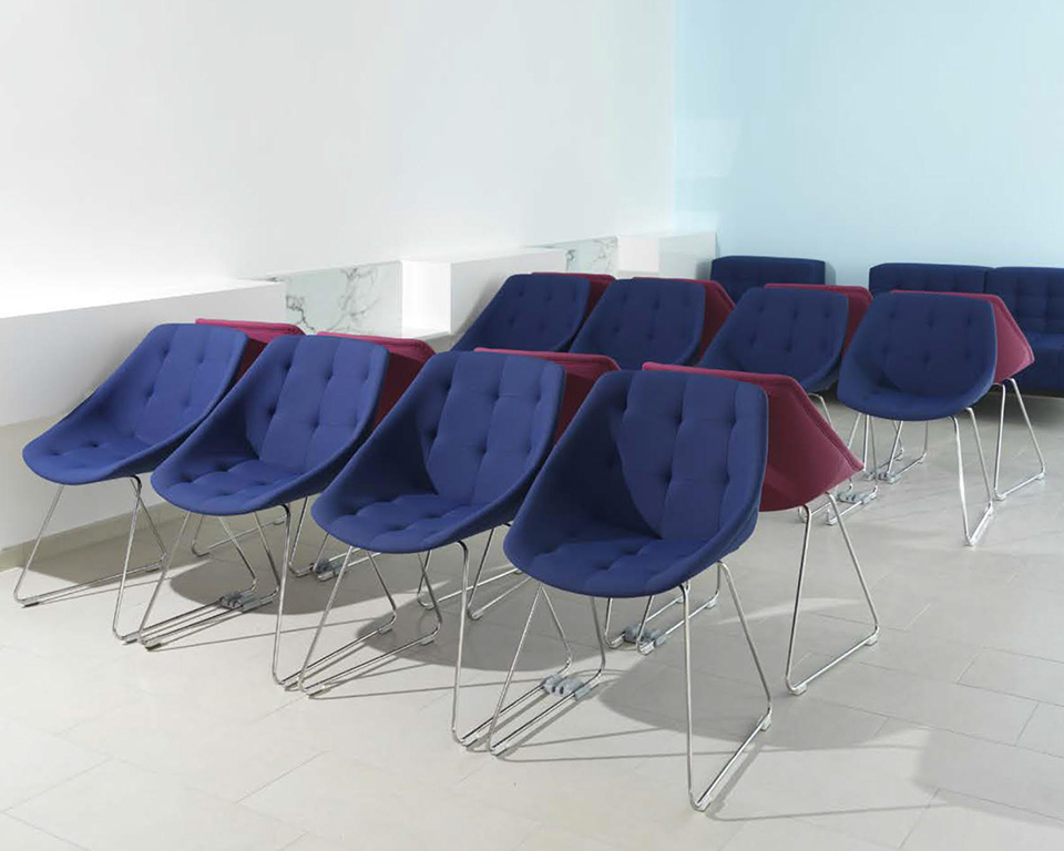 miss-lily-4 leg frame occasional chairs with buttons upholstered in leather