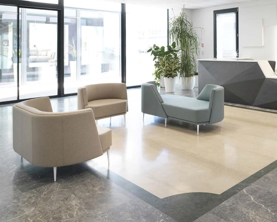 Pergy Italian sofa range for offices and large or small reception areas