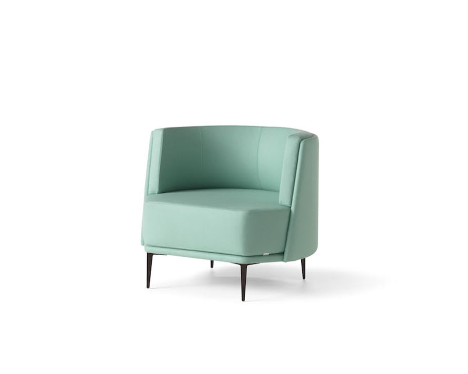 pergy armchair in leather or fabric from Italy