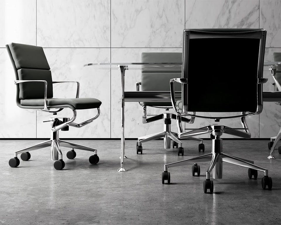rolling frame padded black leather boardroom chairs and high quality home office chairs