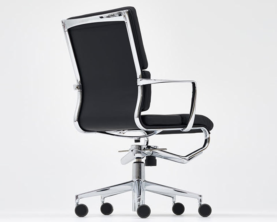 rolling frame padded black leather executive chairs and luxury home office chairs