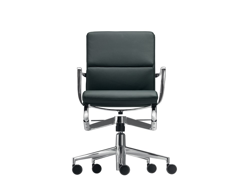 rolling frame padded black leather executive chairs and high quality home office chairs
