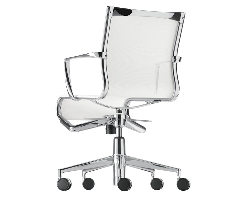 rolling white mesh home office and meeting room c