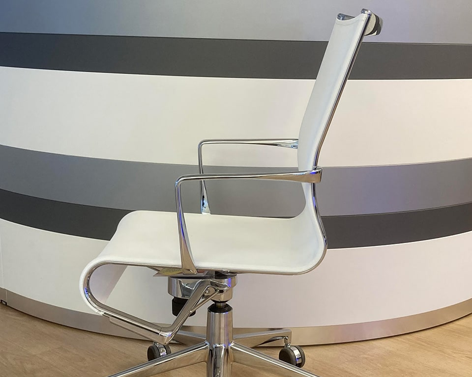 rolling white mesh home office and boardroom c