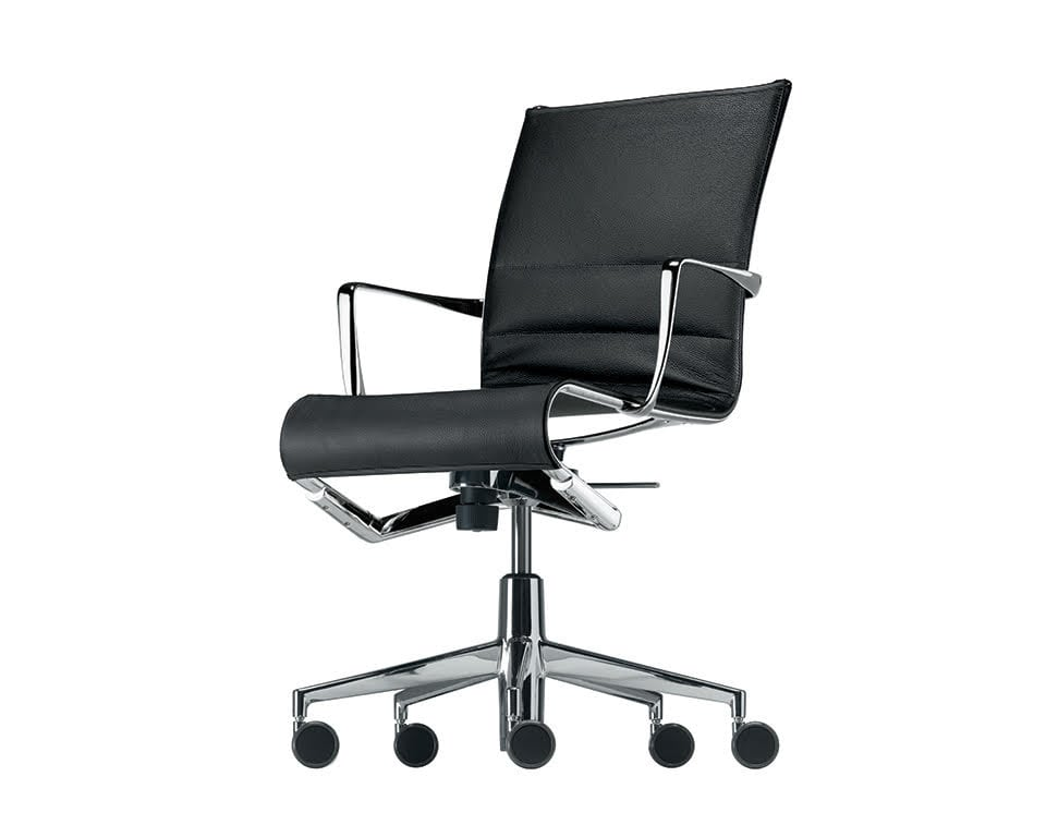 rolling thin padded leather home office chairs and boardroom chairs