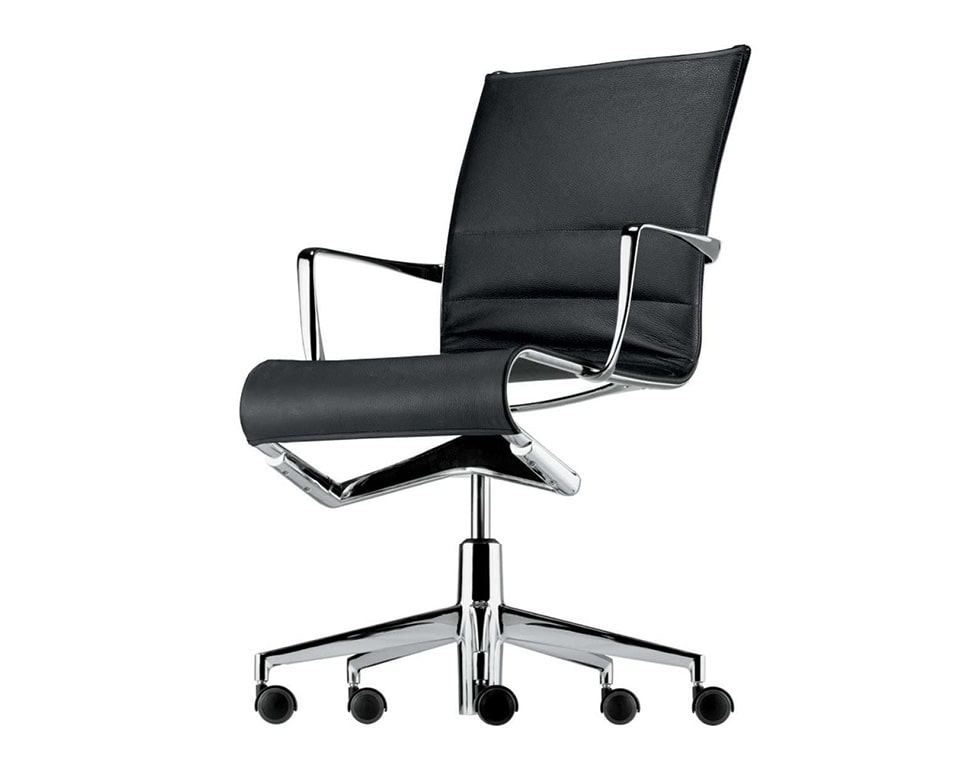 rolling thin padded, leather home office chairs and boardroom chairs