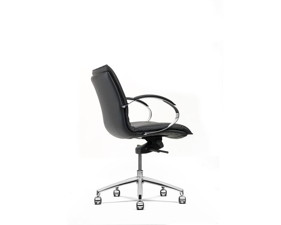 Sabal medium back executive office chair with stylish chrome upholstered arms