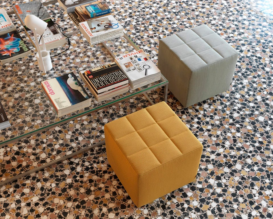 Sigpouf high quality Italian Low stools in real Italian leather