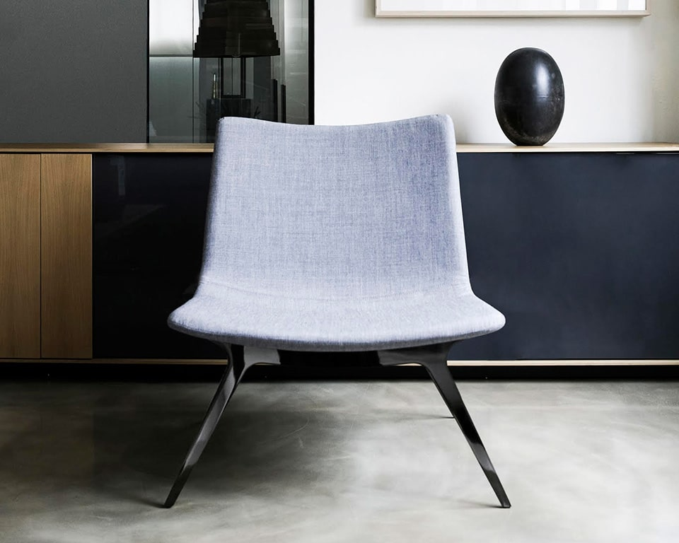 sotai designer feature arm chair in fabric or leather