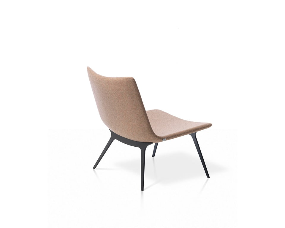 sotai occasional arm chair in fabric or leather