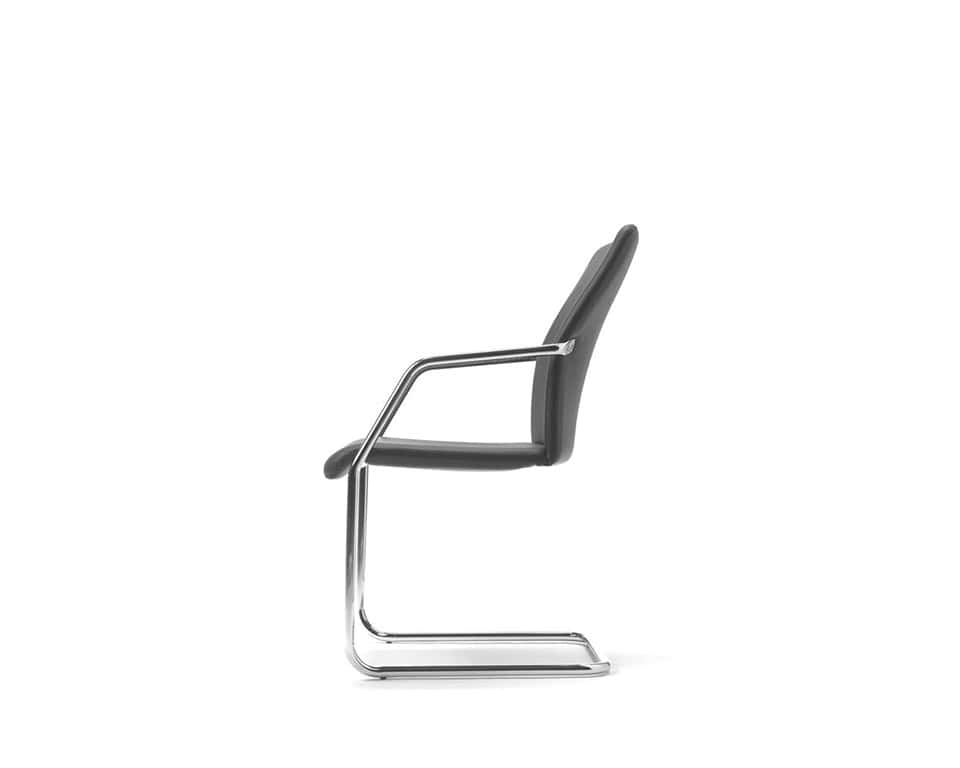 Tempo high quality Meeting room chairs and cantilever visitors chairs in fabric or leather