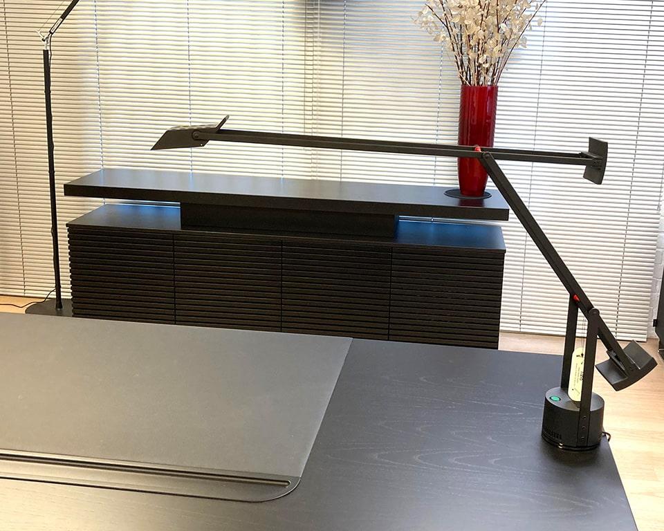 tizio LED fully adjustable desk lights in black