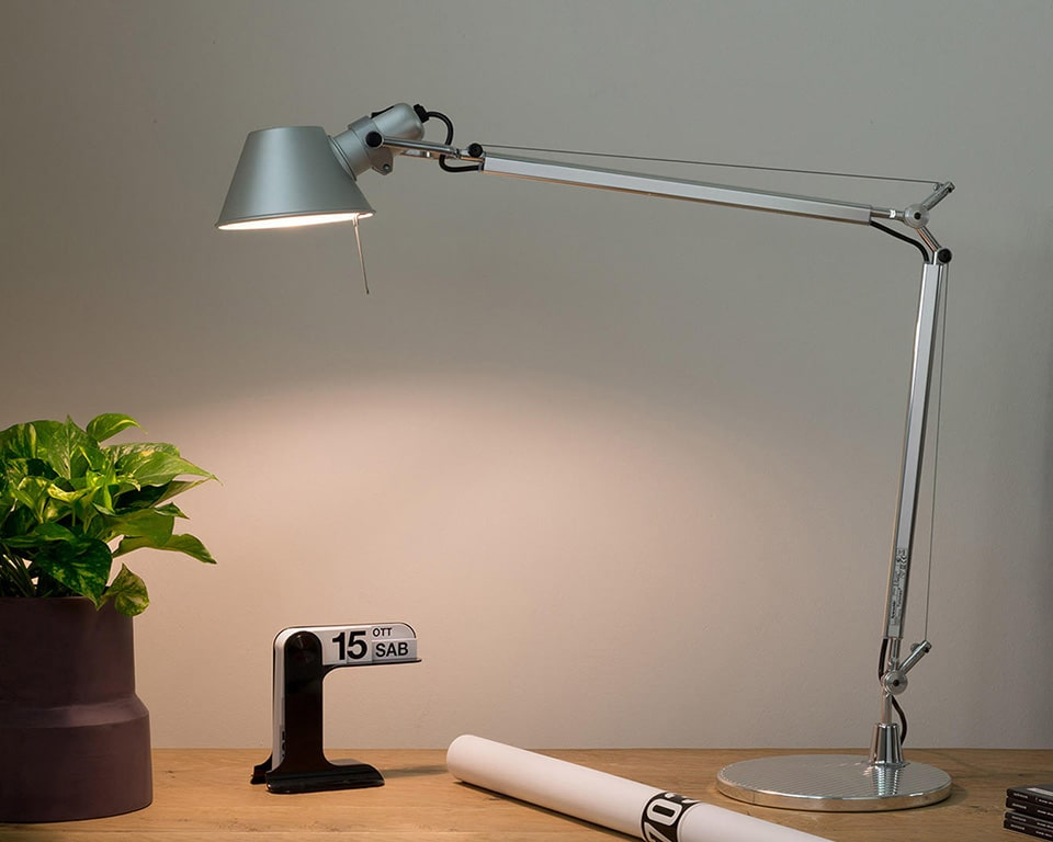 Tolomeo LED adjustable desk lights for your executive desks or bedside tables