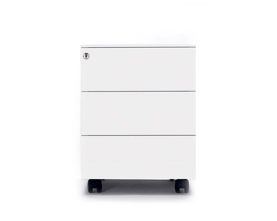universal steel under desk mobile pedestals in 3 drawer or filing drawer versions in three colours