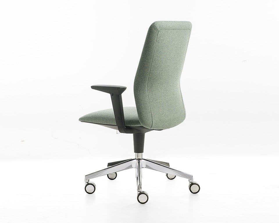 Kappa executive home office chair with optional die cast aluminium 5 star base