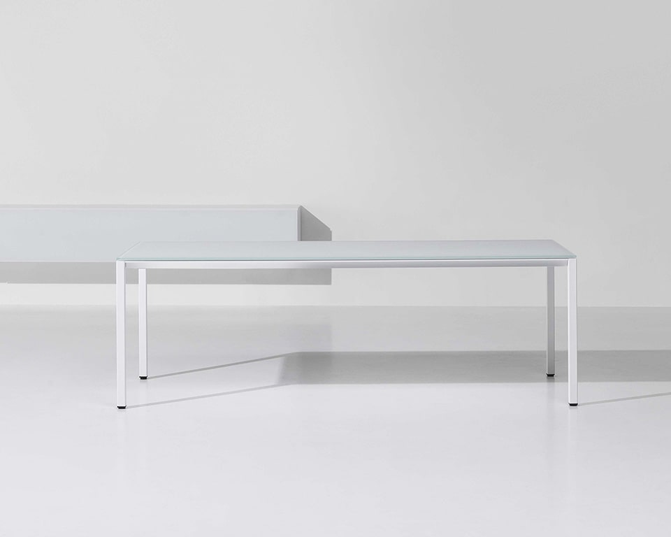 Stylish white glass designer desk that is perfect as your white home office desk