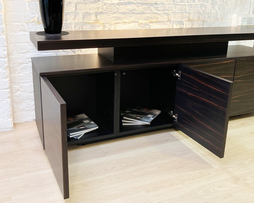 Taiko High quality sideboards in an ebony wood to match all Tau ebony executive desks