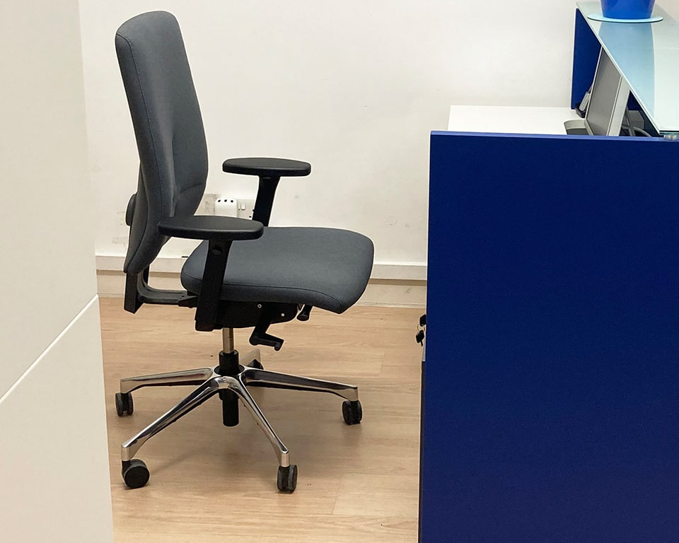 eclipse designer task office chair in grey fabric