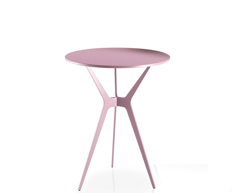 Luxury quality side tables - Shown here in matt lacquered finish with stylish tripod leg design