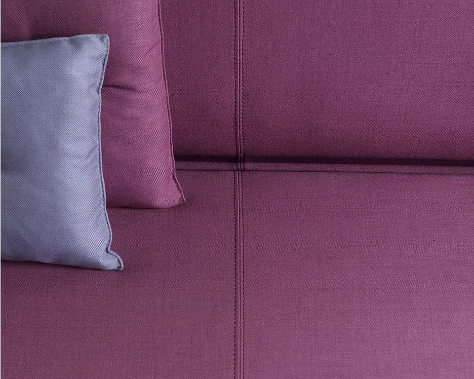Laguna double stitching detail for these high quality modular reception seating sofas